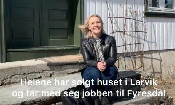 Helene har solgt huset i Larvik og tatt med seg jobben i NHO Vestfold Telemark til Fyresdal